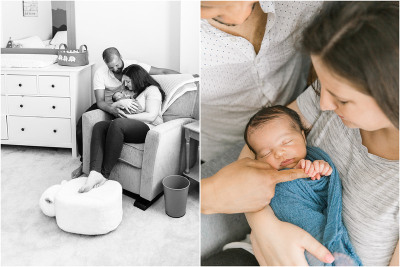 Burtonsville Maryland newborn and family lifestyle photos with Caleb