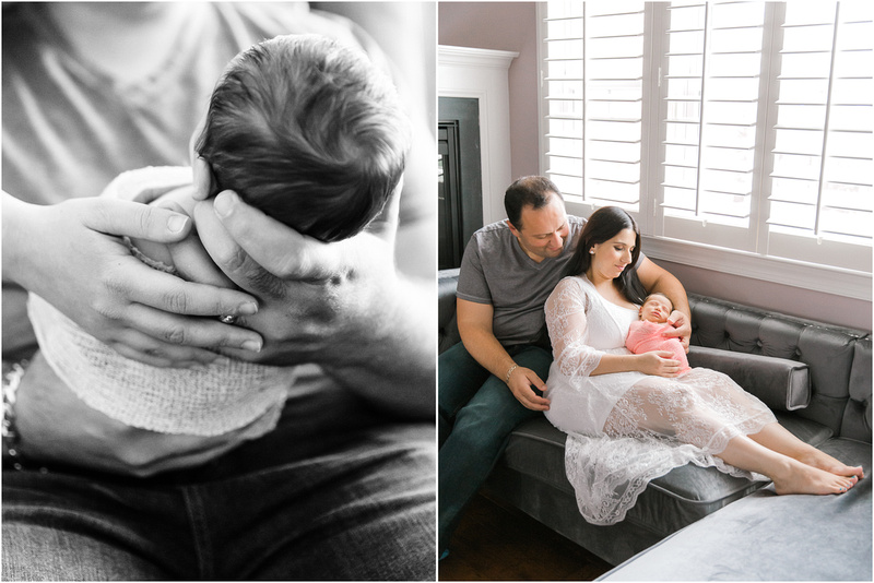 Pikesville Maryland newborn and family lifestyle photos with Ariana