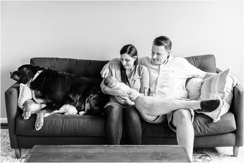 Baltimore Maryland newborn and family lifestyle photos with Axel