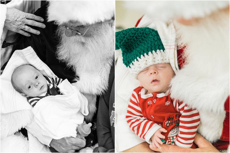 Baltimore Maryland NICU photos with Santa