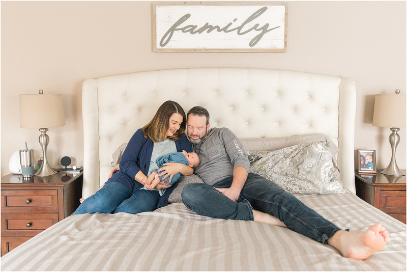 Sparks Maryland newborn and family lifestyle photos with Brayden