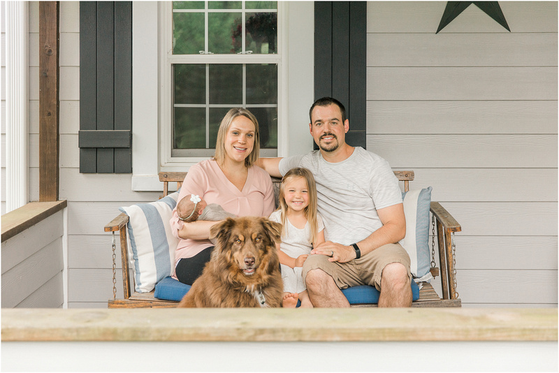 Monkton Maryland newborn and family lifestyle photos with Adalyn