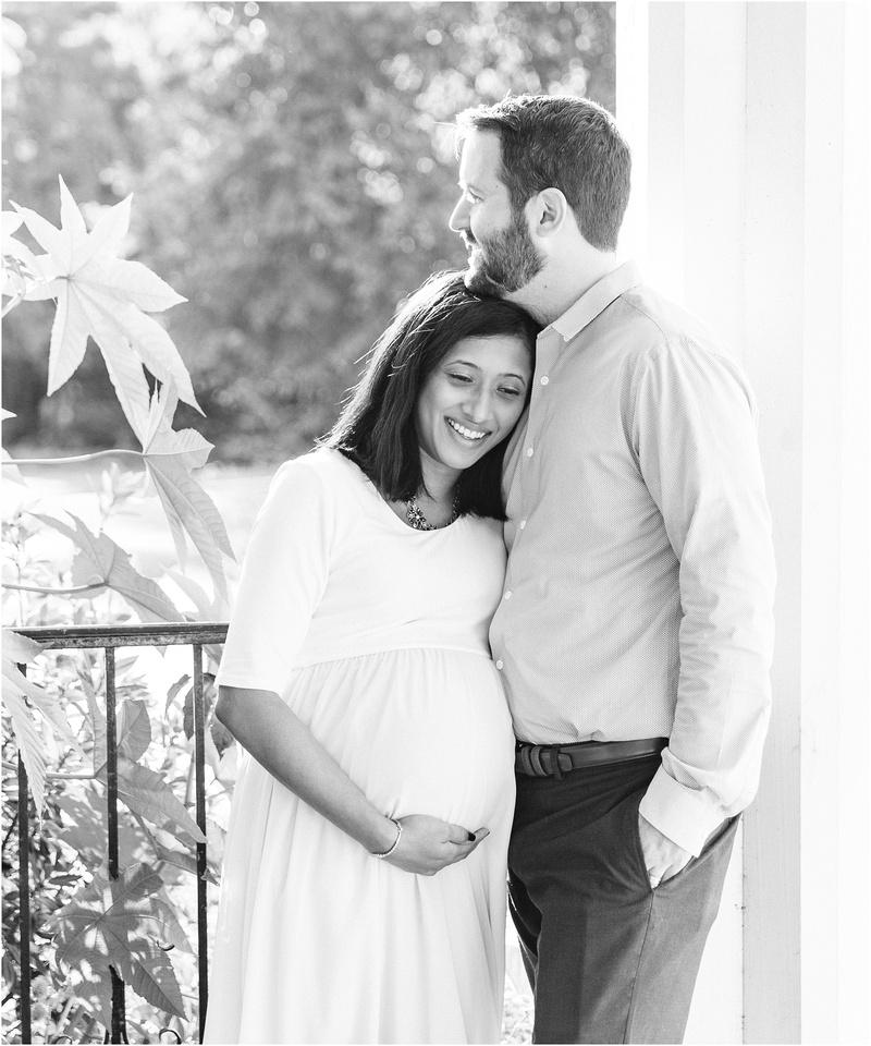 Baltimore Maryland maternity lifestyle photos with Maitreyi & Will